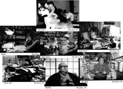 Von links nach rechts: Yoshimoto Banana, Hino Keizô, Setouchi Jakushô, Takahashi Genichirô, Takematsu Wahei, Ibuse Masuji, Noma Hiroshi