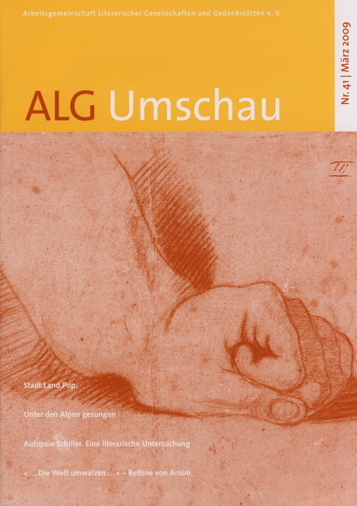 """""""Hundert Gedichte von hundert Dichtern"""" in ALG Umschau, Nr. 41, 3/2009, Umschlag"""