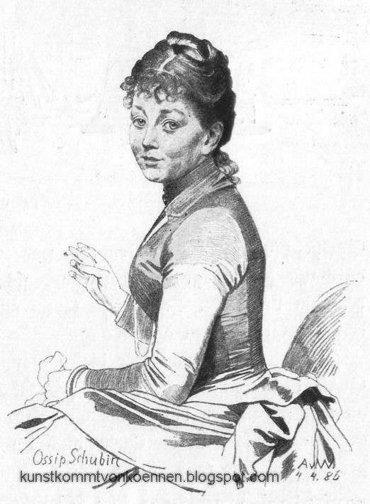 Anton von Werner - Ossip Schubin, 1886