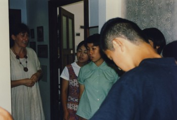 Schüler aus Tsuwano in der MOG 12.08.1997