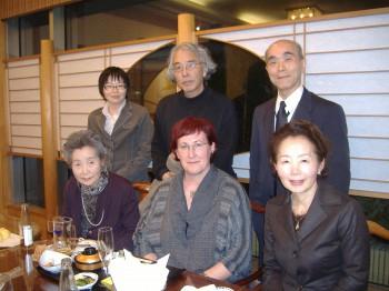 Mit Familie Mori, Herrn Kuramoto und Frau Iwasa im Suigetsu-sô Restaurant