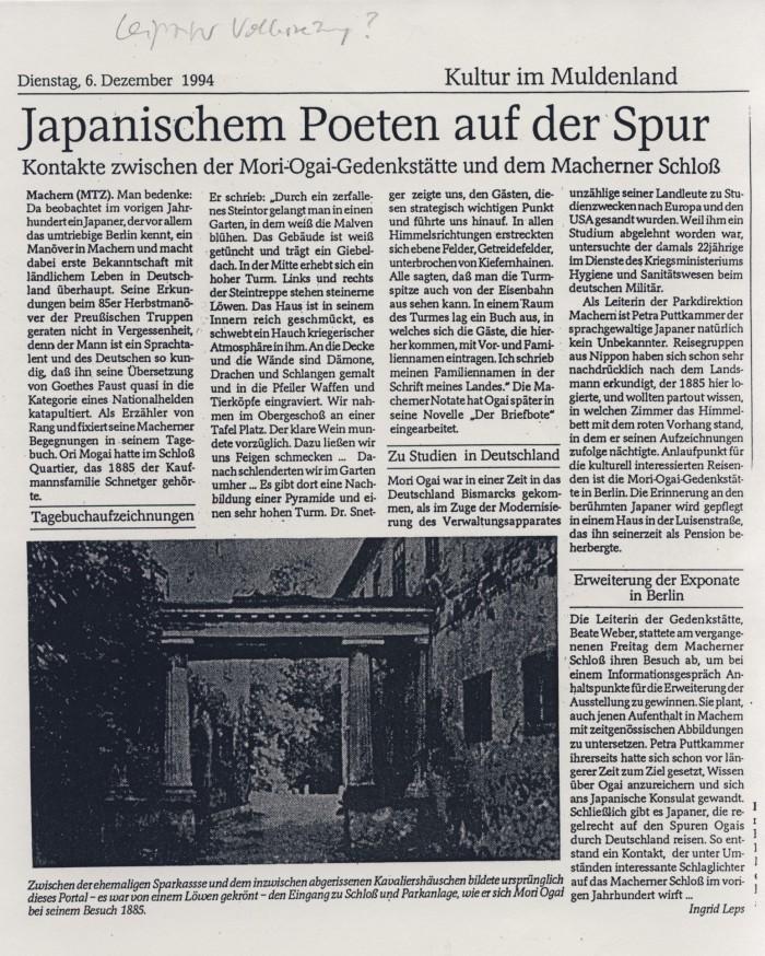 in: Leipziger Volkszeitung, 0.12.1994