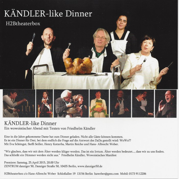 H2B Kändler-like dinner