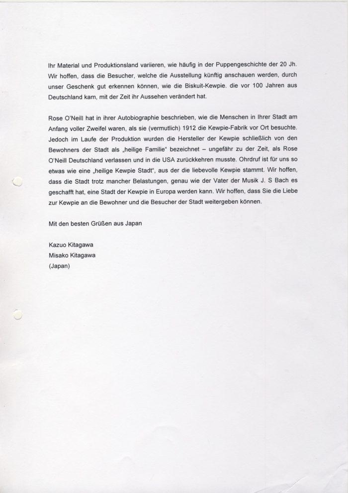 Brief Kitagawa an Fr. Bürgermeisterin 2
